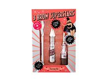 Gel e pomate per sopracciglia Benefit Gimme Brow+ 3 Brow Superstars 3 g 3 Warm Light Brown Confezione regalo