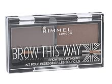 Paletta sopracciglia Rimmel London Brow This Way 2,4 g 003 Dark Brown