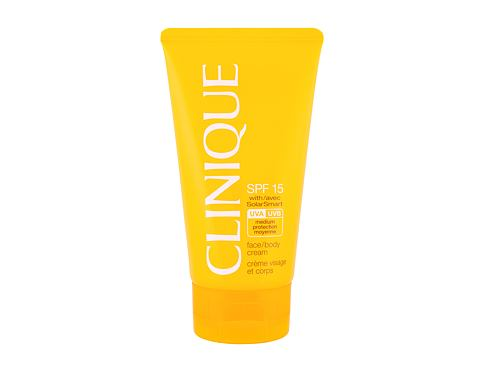 Protezione solare per il corpo Clinique Sun Care Face Body Cream SPF15 150 ml