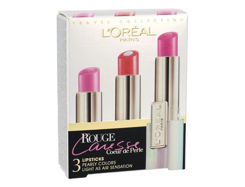 Rossetto L´Oréal Paris Rouge Caresse 4,5 g 10 Candy & Cherie Confezione regalo