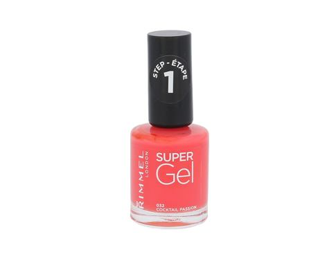 Smalto per le unghie Rimmel London Super Gel STEP1 12 ml 032 Cocktail Passion
