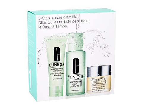Crema giorno per il viso Clinique 3-Step Skin Care 1 30 ml Cofanetti regalo