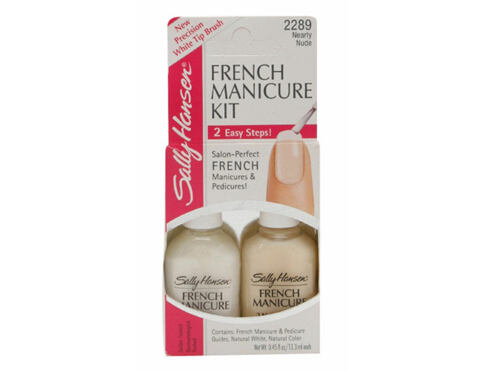 Smalto per le unghie Sally Hansen Hard As Nails French Manicure Kit 2x13,3 ml 2289 Nearly Nude